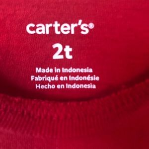 Carter's Shirts & Tops - Carters Long Sleeve Reindeer Glitter Christmas